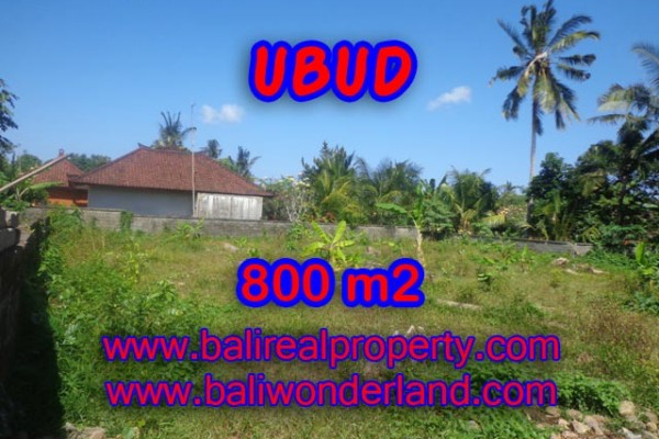 Tanah di Bali dijual 800 m2 di Dekat sentral Ubud