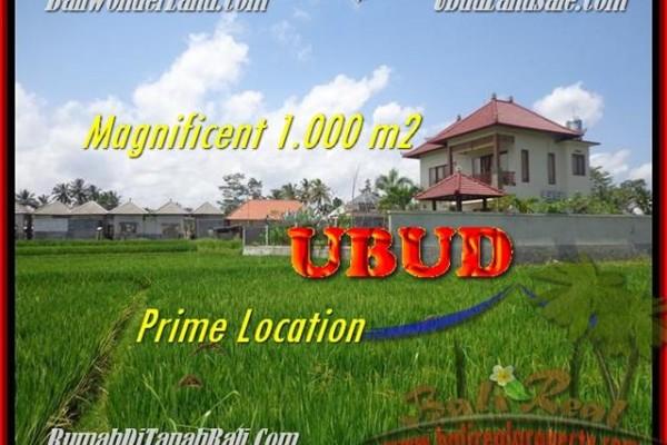 DIJUAL MURAH TANAH di UBUD 1.000 m2 di Sentral Ubud