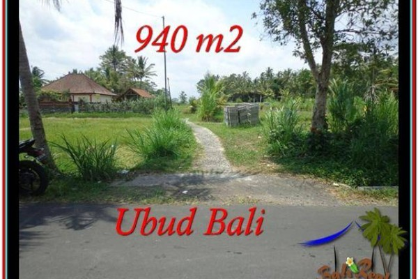 TANAH JUAL MURAH  UBUD 940 m2  View Sawah, link Villa