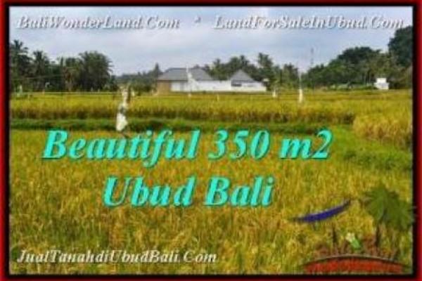 TANAH di UBUD JUAL MURAH 350 m2  View Sawah, link villa