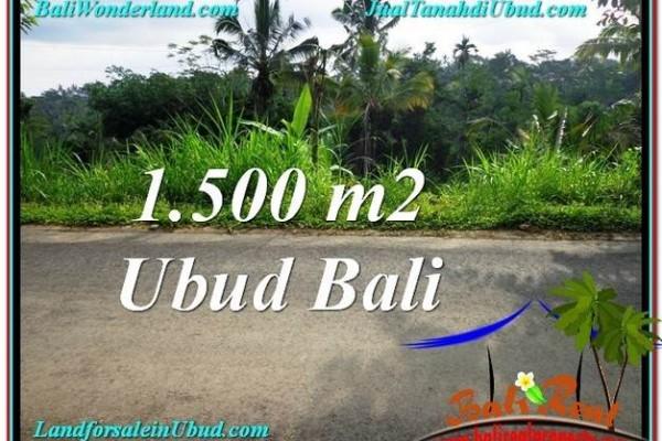 JUAL TANAH MURAH di UBUD BALI 1,500 m2 di Ubud Tegalalang