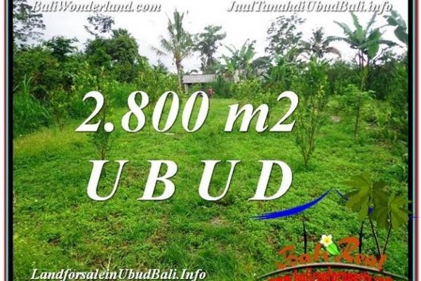 TANAH di UBUD DIJUAL 2,800 m2 di Ubud Tegalalang