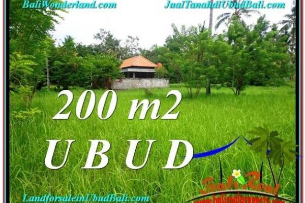 JUAL MURAH TANAH di UBUD 200 m2 di Sentral Ubud