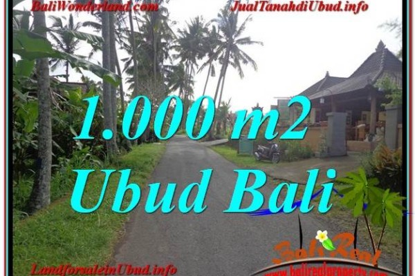 JUAL TANAH MURAH di UBUD 1,000 m2  View kebun lingkungan Villa