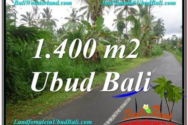 TANAH JUAL MURAH  UBUD BALI 1,400 m2  View Tebing lingkungan Villa