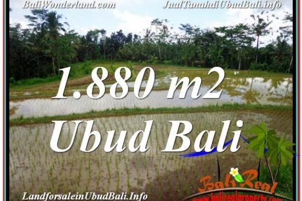 JUAL TANAH MURAH di UBUD 1,880 m2  View Sawah dan Gunung