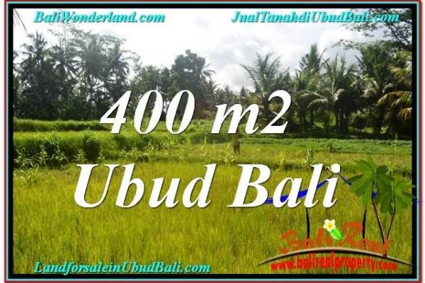 TANAH MURAH JUAL di UBUD BALI 400 m2  View Sawah