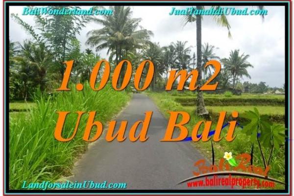 TANAH di UBUD BALI DIJUAL MURAH 10 Are View Sawah, Link. Villa