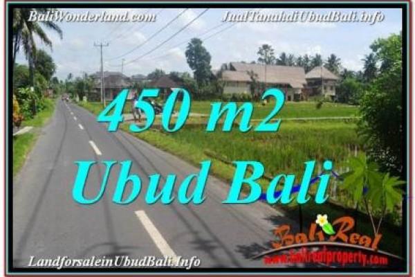 TANAH DIJUAL MURAH di UBUD BALI 450 m2 di Sentral / Ubud Center