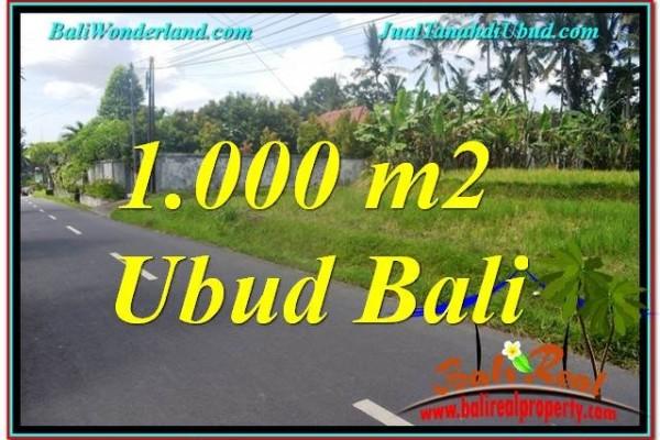 TANAH MURAH JUAL di UBUD BALI 1,000 m2  View Sawah dan Sungai Kecil, Link. Villa