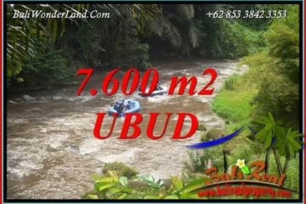 Tanah di Ubud jual Murah 7,600 m2  View sawah dan sungai ayung