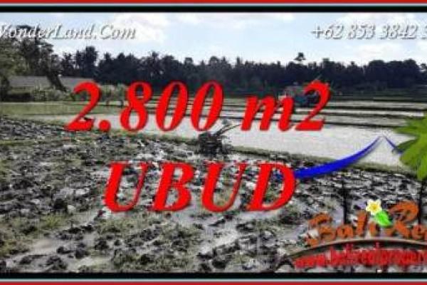 Dijual Murah Tanah di Ubud 2,800 m2 di Sentral Ubud