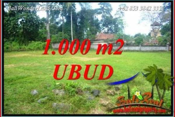 Tanah Dijual di Ubud Bali 1,000 m2 di Ubud Pejeng