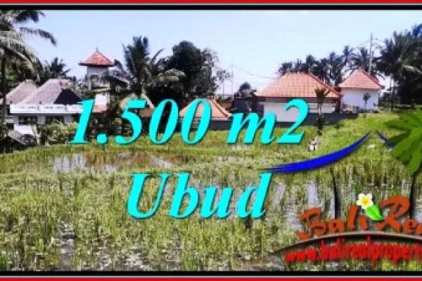 JUAL TANAH di UBUD 1,500 m2 di Ubud Tegalalang