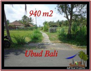 JUAL MURAH TANAH di UBUD BALI 940 m2 View Sawah, link Villa