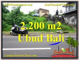 TANAH di UBUD DIJUAL MURAH 2,200 m2 di Sentral Ubud