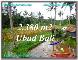 TANAH di UBUD DIJUAL MURAH 2,380 m2 di Ubud Payangan