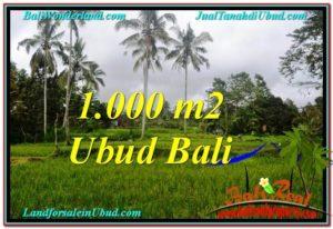 TANAH JUAL MURAH  UBUD 1,000 m2  View  Sawah