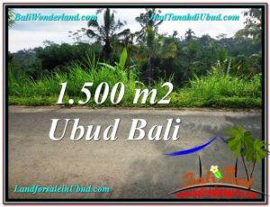 JUAL MURAH TANAH di UBUD BALI 1,500 m2 View Kebun dan Tebing