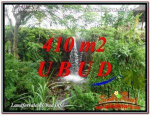 JUAL TANAH di UBUD BALI 410 m2 View Sawah dan Sungai