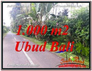 TANAH MURAH di UBUD BALI 1,000 m2 View Kebun dan Pangkung