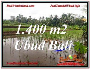 TANAH di UBUD BALI DIJUAL MURAH 1,400 m2 di Ubud Payangan