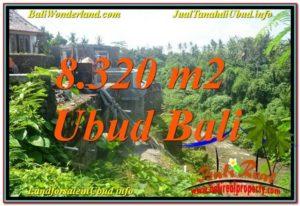 TANAH di UBUD JUAL MURAH 8,320 m2 View Sungai, Link. Villa