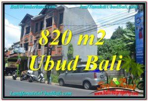 JUAL TANAH MURAH di UBUD 820 m2 di Sentral / Ubud Center