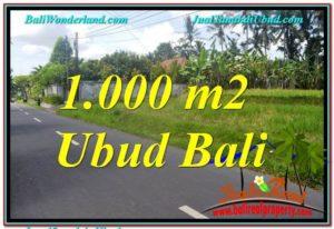 JUAL MURAH TANAH di UBUD BALI 1,000 m2 View Sawah dan Sungai Kecil, Link. Villa