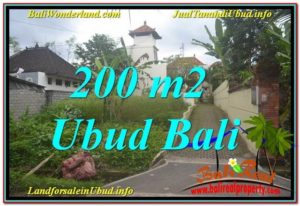 TANAH di UBUD DIJUAL 200 m2 di Sentral / Ubud Center