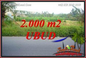 JUAL Tanah Murah di Ubud 2,000 m2 View sawah lingk. restorant